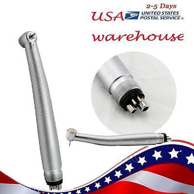 Dental High Speed Handpiece Large Push Button 3 Way Spray 4 Hole Steel Cartridge