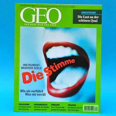 GEO Magazin 12/1998 Patagonien Piraterie Finnland Fischhäute Waldbrände Stimme