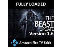 Fully loaded Amazon Fire TV Stick including KODI, MEGABOX, MOBDRO and POPCORN