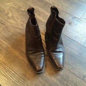 Mootsie Tootsie Leather Ankle Boots - Chocolate Brown