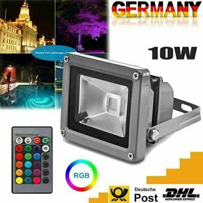 10W LED Flutlicht Weiß RGB Landschaft Spot Lampe - Outdoor Landschaft Beleuchtung