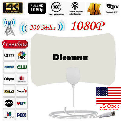 200 Mile Range Antenna TV Digital HD Skylink 4K Antena Digital Indoor HDTV 1080p