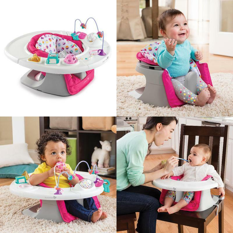 Convertible 4-in-1 Infant/Toddler Super Feeding Booster Seat in Pink