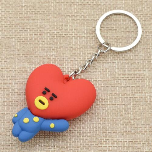 KPOP Bangtan Boys BTS BT21 Keychain Collection Keyring TATA COOKY CHIMMY SHOOKY