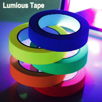 Blacklight UV Reactive Tape Fluorescent Cloth Glow in The Dark Neon Gaffer Tape (Blacklight Reactive)