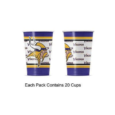 Minnesota Vikings Party Supplies (New 20pc NFL Disposable Party Supplies Paper Cup Cups Minnesota)