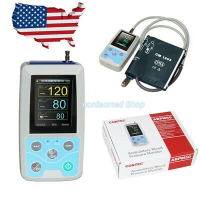 Contec Ambulatory Blood Pressure Monitor 24 Hours Abpm50one Adult Cuff Newest
