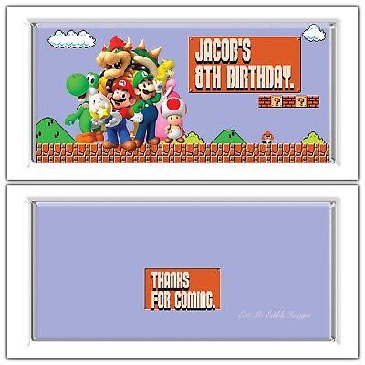 me Chocolate Wrappers Printable Digital - Print At Home (Super Mario Theme)
