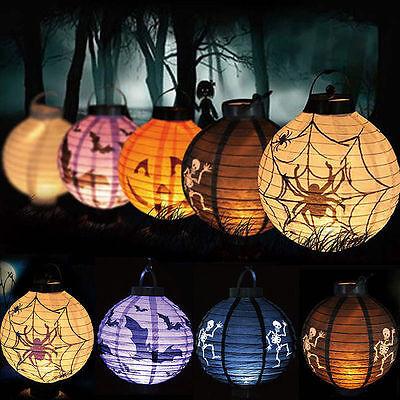 Glühendes Schwarzes Neonglühendes Papierlaternen-wandbehang Halloweens