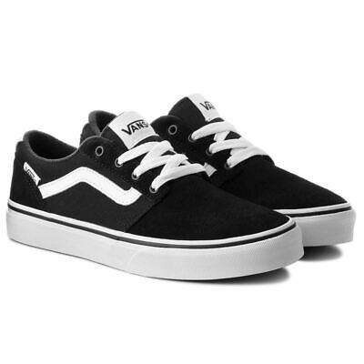 Vans Champman Stripe Suede Canvas Trainers Classic Sneakers Black
