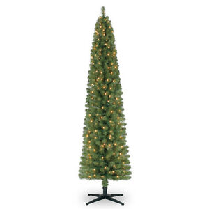 7 FT PRE LIT PENCIL ARTIFICIAL CHRISTMAS TREE WITH CLEAR LIGHTS Oakville / Halton Region Toronto (GTA) image 6