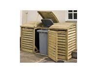 Wooden Triple Bin Store
