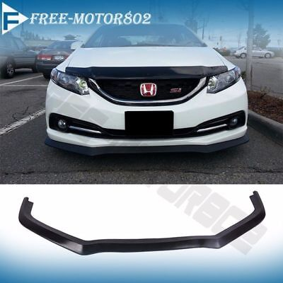 For 13-15 Honda Civic 4door Aero Front Bumper Lip Spoiler Bodykit (Honda Polyurethane Civic Bumper)