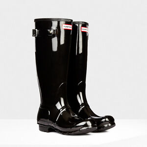 Wanted: Glossy Black Hunter boots Windsor Region Ontario image 1