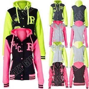 New-kids-Boys-Girls-Varsity-College-R-Fox-NYC-baseball-jacket-Hooded-Hoodie-Top