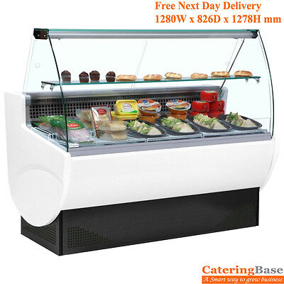 TAVIRA 130C Refrigerated Deli Slimline Serve Over Counter Food Beverage Display