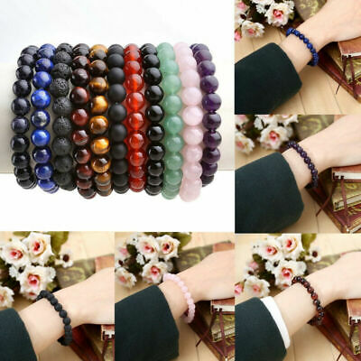 Armband Edelstein Perlenband in Kugelform Armreif Power Beads Armschmuck (Armreif Perle Armband)