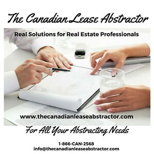 Commercial Lease Abstraction - Waterloo Region - 1-888-226-2568 Kitchener / Waterloo Kitchener Area image 1