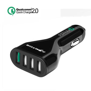 Quick Charge 2.0 Car Charger, BlitzWolf 54W QC2.0 Port+2.4A Max