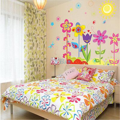 Removable DIY Wall Sticker Flower Butterfly Art Vinyl Mural Kids Room Decor LY