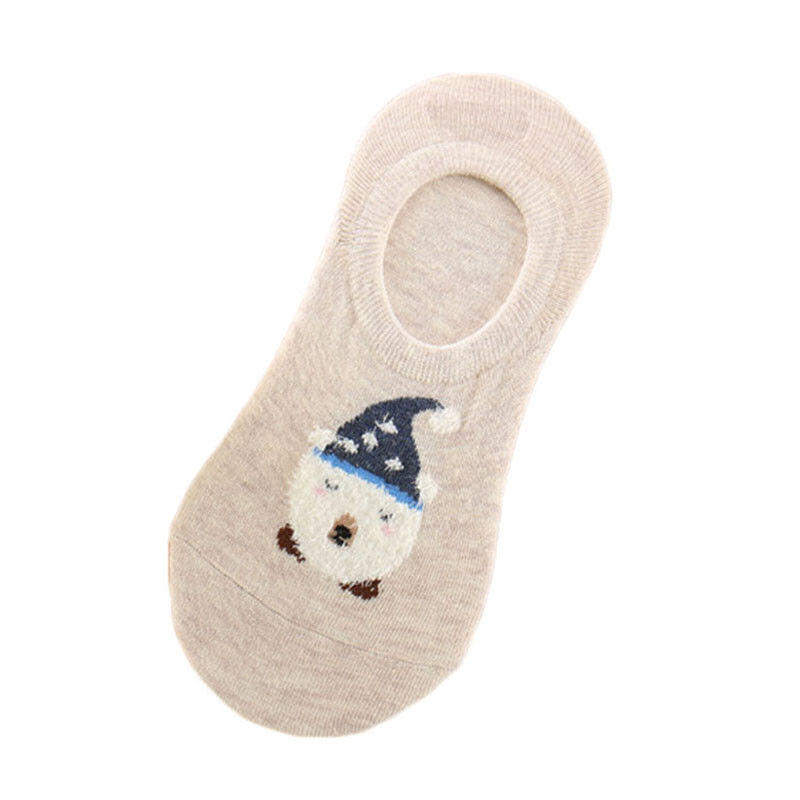 Women Cartoon Animal Cat Rabbit Socks Summer Short Sock Slippers Funny Boat Sox
