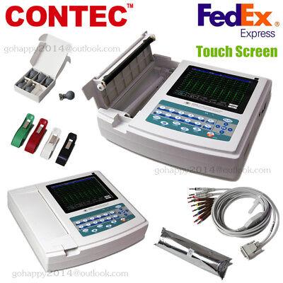 Usa Touch Portable Ecgekg Machine Ecg1200gprinterpaper12 Channel 12 Leads