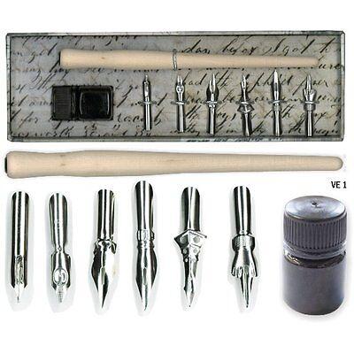 Kalligraphie Set Federhalter Schriftfeder mit Tusche