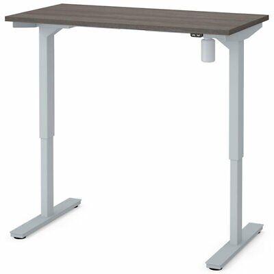 Bestar 48 Electric Adjustable Standing Desk In Bark Gray