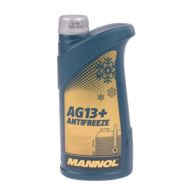 Kühlerfrostschutz Gelb 1 Liter MANNOL Advanced Antifreeze AG13+ Kühlmittel