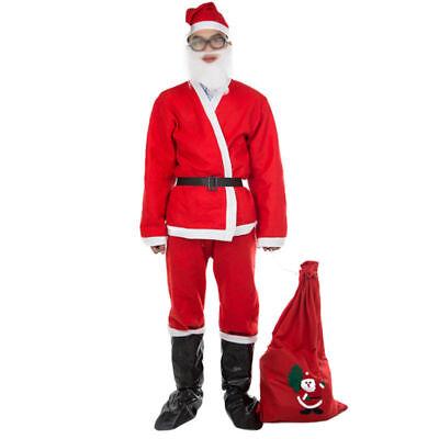 Perücke Bart Nikolaus Luxus Fasching Kostüm Weihnachten Weihnachtsmann Outfit (Weihnachten Kostüme Accessoires)