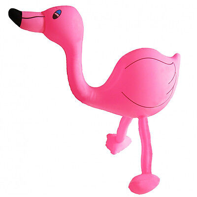 Aufblasbarer Flamingo ca 60 cm hoch Karneval Halloween Party Verkleidung Tier