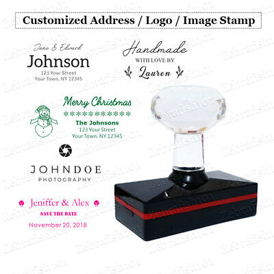 Custom Self Inking Stamp - Personalized Signature Image Address Logo Stamp