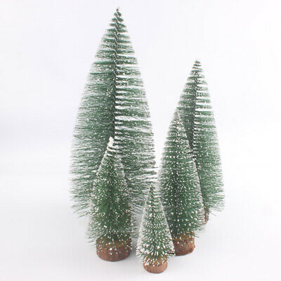 Wooden Modern Christmas Tree Home Decorations Miniature Figurines Feather 1PC ()