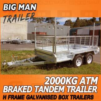 10x6 H-Frame ⚙ Tandem Trailers Hot Dipped Galvanized