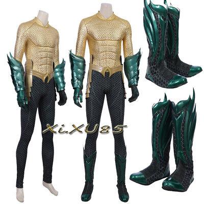 Superhero Aquaman Arthur Cosplay Costume Halloween Avengers  Aquaman Customize](Arthur Halloween Costume)