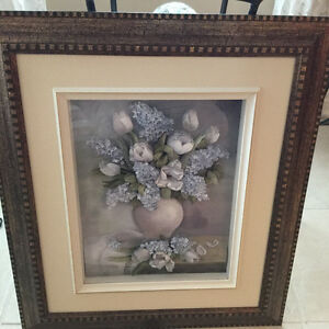 3 dimension frame with flowe: blue hydrangea West Island Greater Montréal image 1