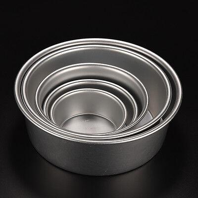Round Sandwich Cake Baking Tin Pan Mould Mold Kitchen Bakeware Fun Aluminium BHQ