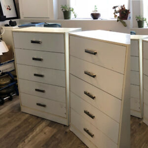 Pair of white dressers