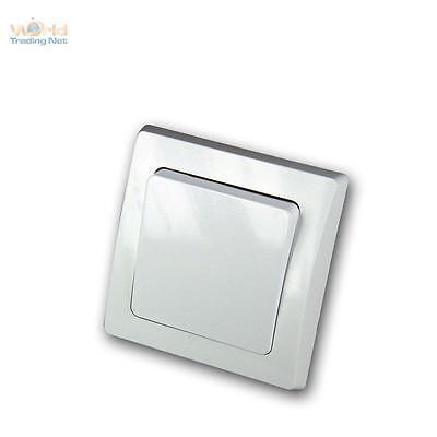 DELPHI Taster 250V~/ 10A, inkl. Rahmen, UP, weiß, Lichttaster, Unterputztaster ()