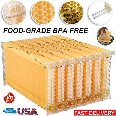 7pcs Bee Hive Frames Auto Move Honey Beekeeping Starter Beehive Harvesting Frame
