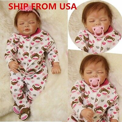 223939Handmade Lifelike Baby Silicone Vinyl Reborn Girl Doll Newborn DollsClothes