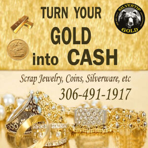 CASH PAID for any Scrap / Broken Gold Jewelry or Coins, etc.