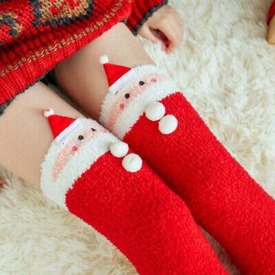 Santa Claus high socks,holiday theme knee high socks for women,lovely high sox Love Knee High Socks
