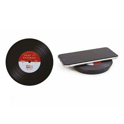 Vinyl Drahtlose induktive Ladestation Gift Republic Schallplatte Retro