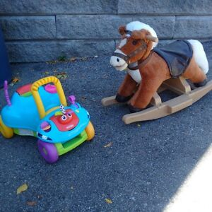 Rocking horse and ride on car