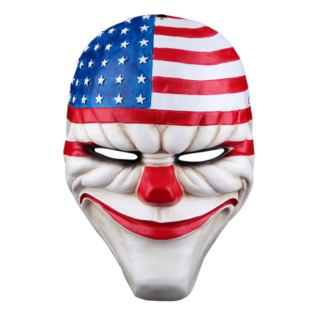 2016 halloween payday 2 dallas mask heist joker costume props cosplay mask - Costume Props