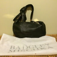 Authentic Badgley Mischka black Leather purse