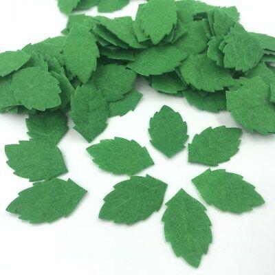 Felt Leaves (DIY 100pcs Green Leaves-shape Felt Card making decoration Sewing crafts)
