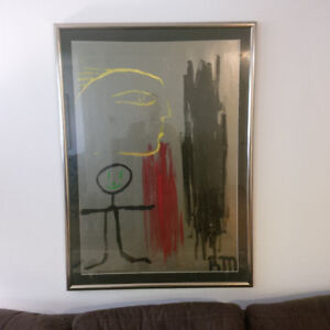 Rene Marcil Original Abstract Painting (1987)