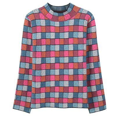 Women Sweater Striped Color Block Plaid Jumper Hollow Out Jersey Luxury Pullover